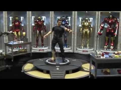 San Diego Comic Con 2014 HOT TOYS CAPTAIN AMERICA WINTER SOLDER & IRON-MAN DISPLAY