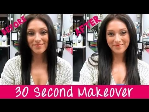 Instant Beauty's One Piece Clip In Hair Extension - 30sec Makeover!