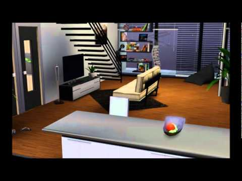 The sims 3 modern living bridgeport apartment youtube - Sims 3 wohnzimmer modern ...