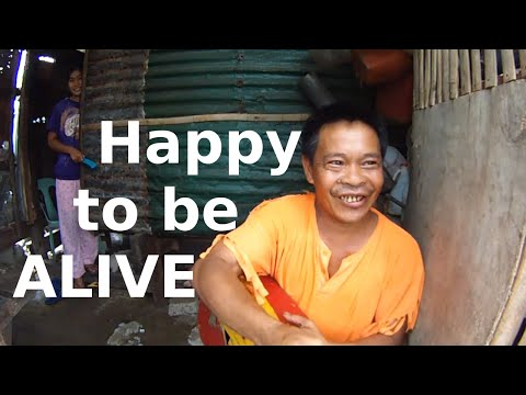 Happy to be alive, life keeps going. People in Lawaan, near Tacloban Philippines.