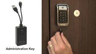 Master Lock 1566 Administration Key for Electronic Locker Locks Instructions