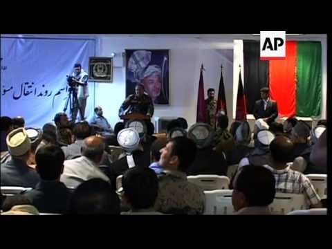 Afghan Defence Minister attends handover ceremony