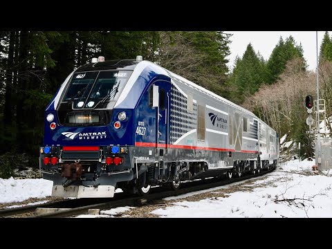 Amtrak Charger Locomotive Long Distance Test Train