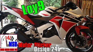 Honda CBR250R | new honda cbr motorcycle install sticker