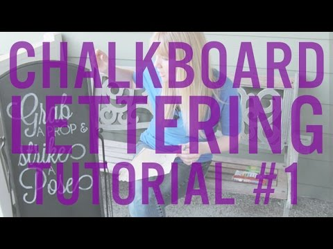 DIY Chalkboard Lettering Tutorial #1 | Ryan + Chelsea's Wedding Series | Episode 15