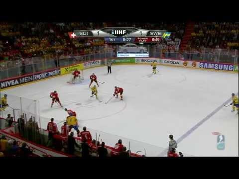 Все голы ШВЕЙЦАРИЯ  ШВЕЦИЯ 1-5 финал Чемпионат Мира по хоккею - 2013