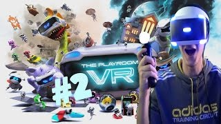 The Playroom VR (PSVR) Part 2 - Godzilla Attack - Cat And Mouse