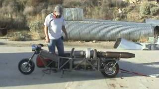 GRV-2 DIY Turbine Jet Bike - Static Thrust Test