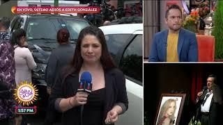 Edith González es despedida en medio de aplausos y música | Sale el Sol