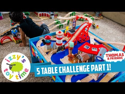 Thomas and Friends | 5 TABLE CHALLENGE PART 1! Fun Toy Trains for Kids with Brio and Imaginarium