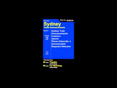 Sydney Trains Announcement - Announcement 3 - Canberra Xplorer