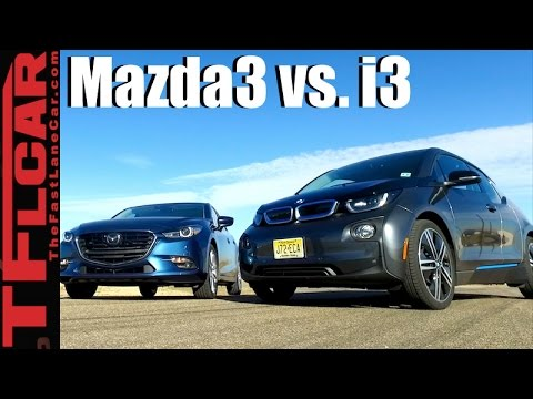 2017 BMW i3 vs 2017 Mazda3 Drag Race & Performance Review: TFL Leaderboard Hot or Not Ep.18