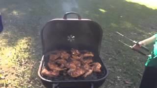 Hatim n Bazif making BBQ