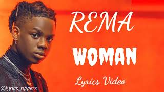 REMA - Woman (Lyrics Video)