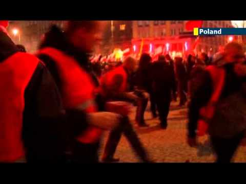 EU Far Right Fears: Polish nationalists riot in Warsaw during annual Independence Day celebrations