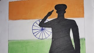 How to Draw a SALUTING SOLDIER with oil pastel colours (STEP BY STEP) DRAWING WITH RSS