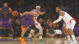 Lonzo Ball Brings Lakers Crowd To Their Feet With Amazing Pass To Tyson Chandler! Lakers vs Clippers