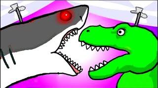 """My Cute Shark Attack Cartoon #70 (Shark-Copter vs. Dino-Copter!!! BEST OF!!) kids cartoons!"