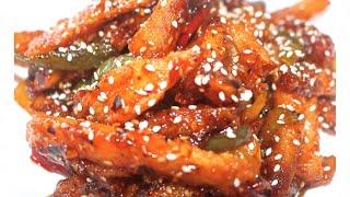 """Honey Chilli Potatoes Recipe"" | Honey Chilli Potato-See How to Make this Tasty Dish |"