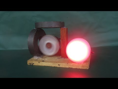 How To Make Free Energy Experiments Light Bulbs With Magnets Motor - 100% Work