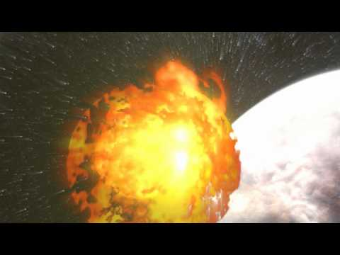 Green Screen (Black too!) Chroma key effect of an animated explosion