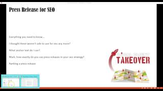 Press Releases for SEO Training