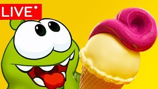 OM NOM STORIES - SUPER NOMS - CUT THE ROPE- LIVE 🔴