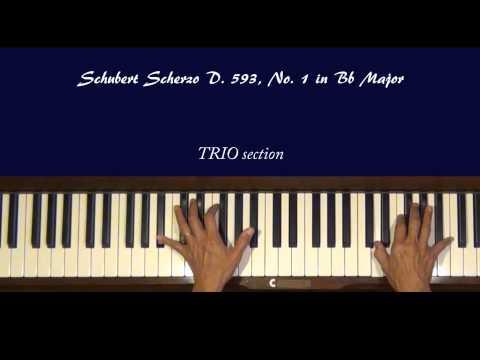 Шуберт Франц - Works for piano solo D.593 2 scherzos B-dur, Dflat