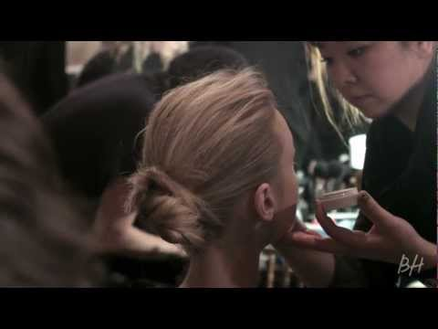 Backstage Beauty Fall 2013: Zac Posen s Deconstructed Chignon