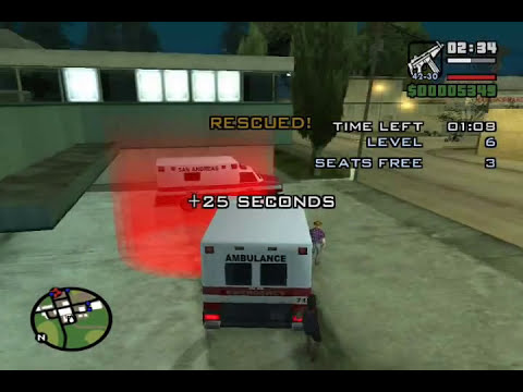 GTA San Andreas Mission #13 - Paramedic Mission ( Part I of VI )