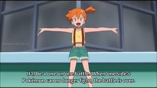 Pokemon Sun and Moon Brock vs Kiawe(Kaki) Z move vs Mega Evolution