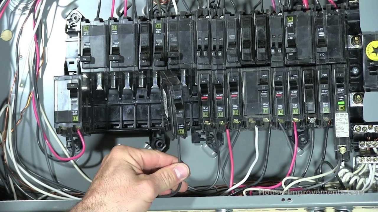 How To Add a 120V 240V Circuit Breaker - YouTube
