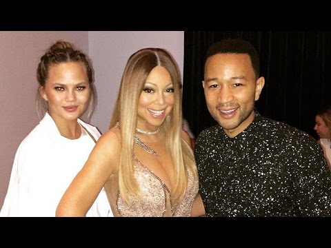 Watch Mariah Carey Tickle John Legend on Stage as Wife Chrissy Teigen Looks On!