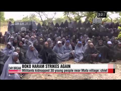 Boko Haram militants kidnap 30 more young people   보코하람 추정 세력, 나이지리아서 청소년 30명 납치