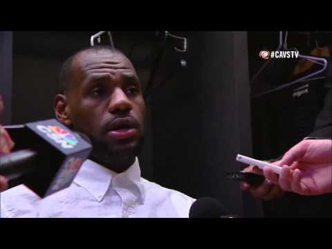 LeBron James Postgame Interview vs Trail Blazers Nov4, 2014 - NBA 2014 15 Season