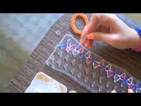 How To Make A Funloom Single Rubber Band Bracelet Youtube