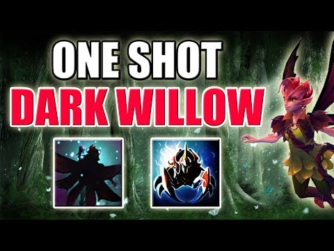 Mega Right Click Hit = One Shot Willow [Shadow Realm + Vendetta] Dota 2 Ability Draft