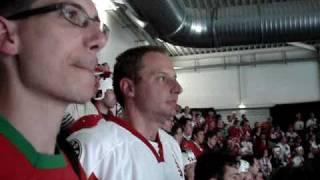 Magyarország-Kanada hoki vb 2009 Zürich szurkolás Ti vagytok a legnagyobbak