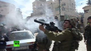 IDF fire rubber bullets, stun grenades at (Palestinian) protesters in West Bank  2/22/14