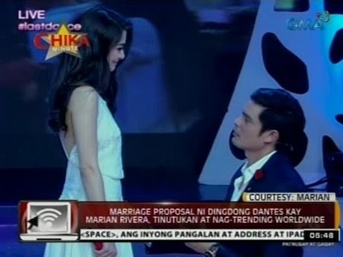 24 Oras: Marriage proposal ni Dingdong Dantes kay Marian Rivera, tinutukan at naging trending pa