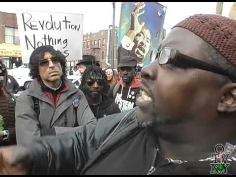 #BrooklynProtest organizers confront Revolutionary Communist Party in #EastFlatbush 3-24