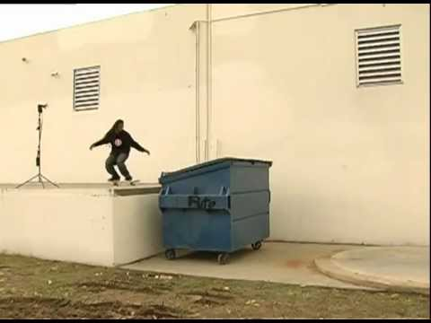 SKATEBOARDING - FABRIZIO SANTOS - FS FLIP OVER DUMPSTER
