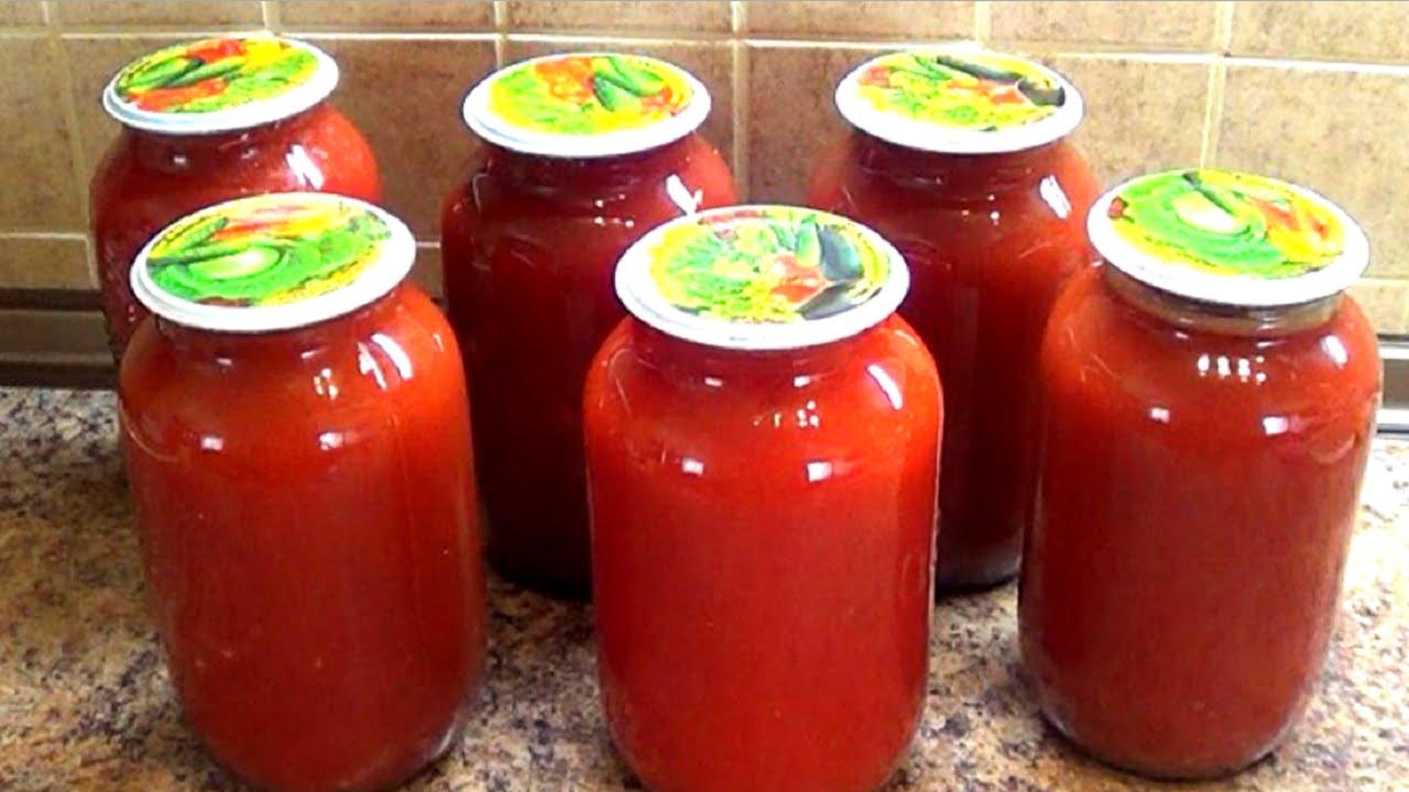 Готовить томатный сок на зиму в домашних  478