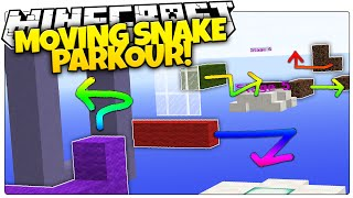 Minecraft | MOVING SNAKE PARKOUR | Ride The Snake Or Fall! (Minecraft Parkour Map)