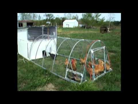 The ultimate pvc chicken tractor mobile coop youtube for Chicken coop made from pvc