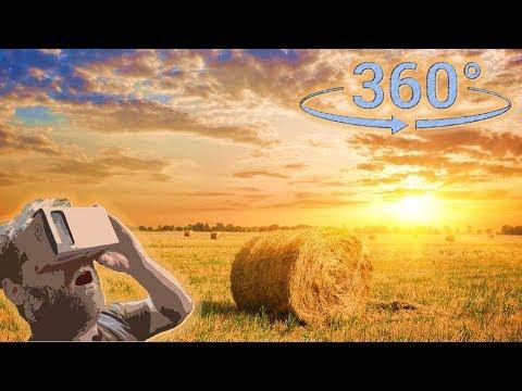 Панорамное Видео 360 VR 4K для очков виртуальной реальности. Закат. Интервальная съёмка (time Lapse)