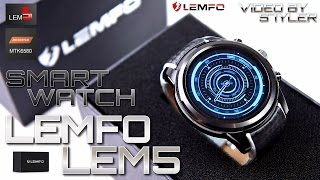"Extremely Cool China Smartwatch? LEMFO LEM5 (In-Depth Review) 1.39"" OLED // Video by s7yler"