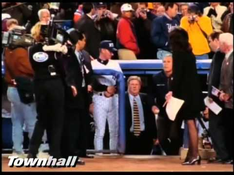 President Bush's Opening Pitch at Yankee Stadium After 9-11 [High Quality]