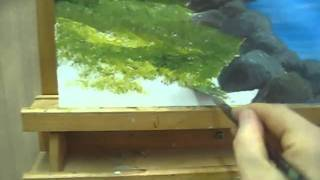 Acrylic Paint Grass - How To Paint Grass - with Acrylic