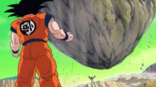 """Dragon Ball Z Kai: Freeza throws """"island""""-size rock at Goku"""
